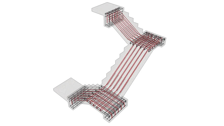 BiMUp 5D - Typical Staircase Reinforcement 01