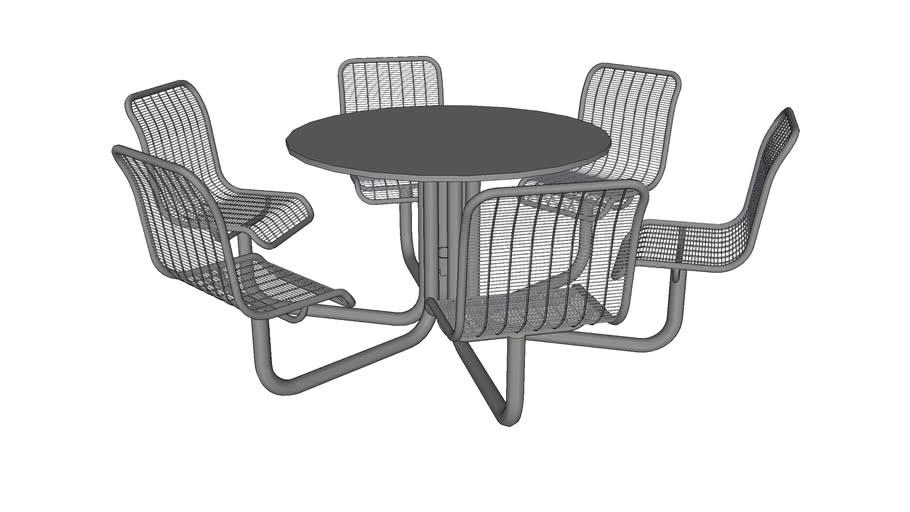 Carousel 6 Seat Table