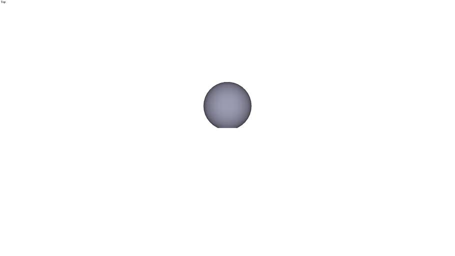 Ball knob form E - M12 ext. Ø 50 mm