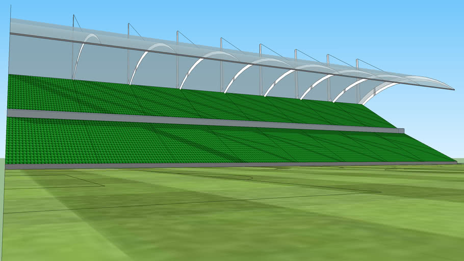 Green seated 2 tier stand