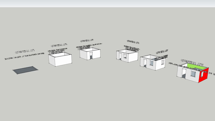 exercices de modélisation d'une maison