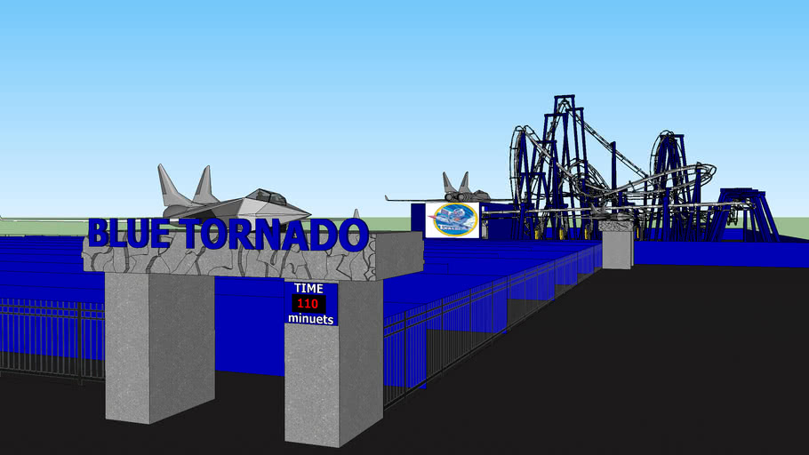 blue tornado at gardaland