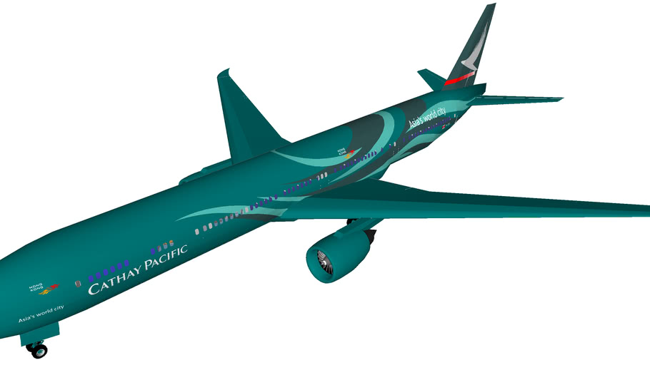 Cathay Pacific Boeing 777-300ER In Maximum Teal Livery