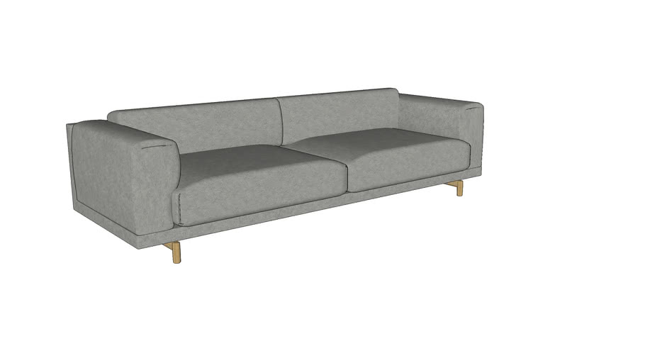 Rest sofa series - 3-seater - by Muuto,designed by Anderssen & Voll