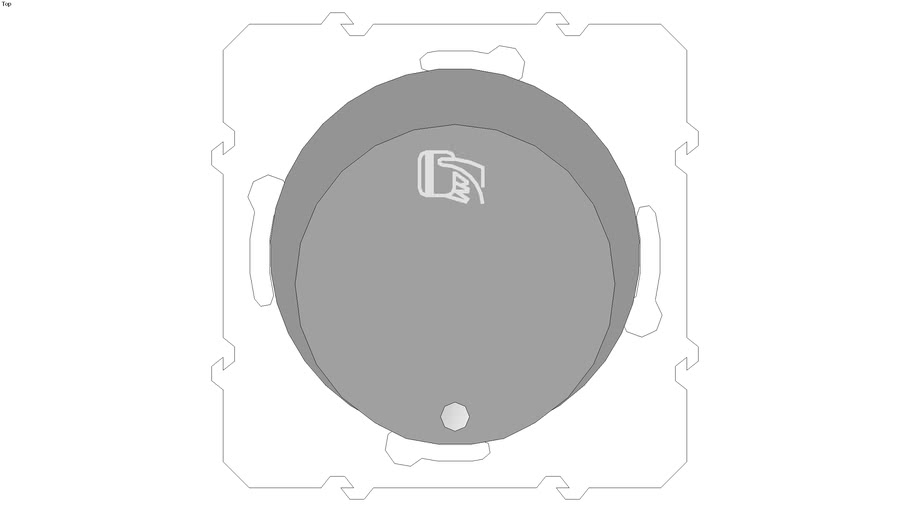 Odace Key card switch with location LED, 10AX, aluminium