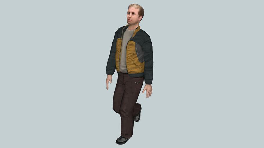 Homme  blouson marche