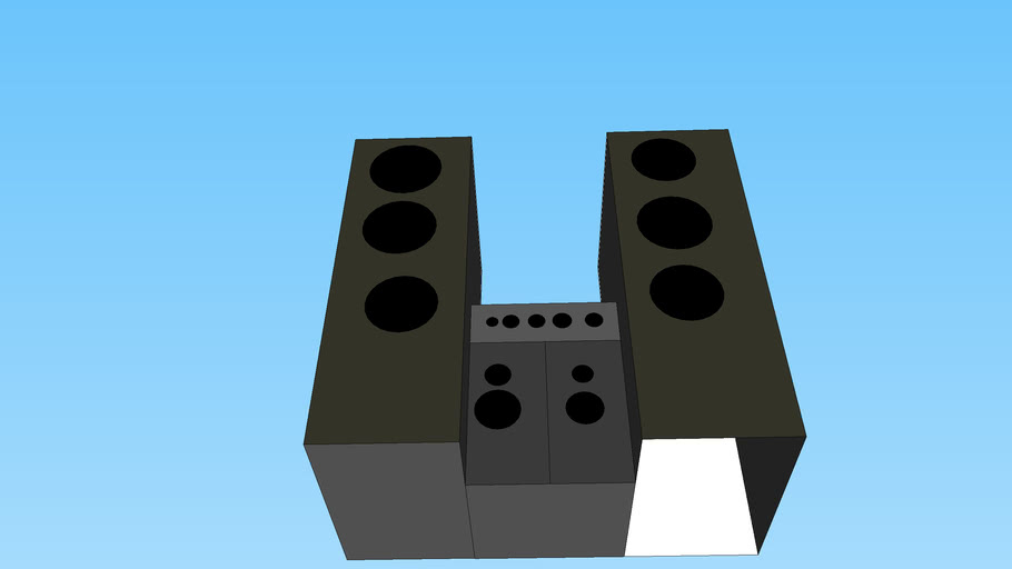 basic stereo with big speakers