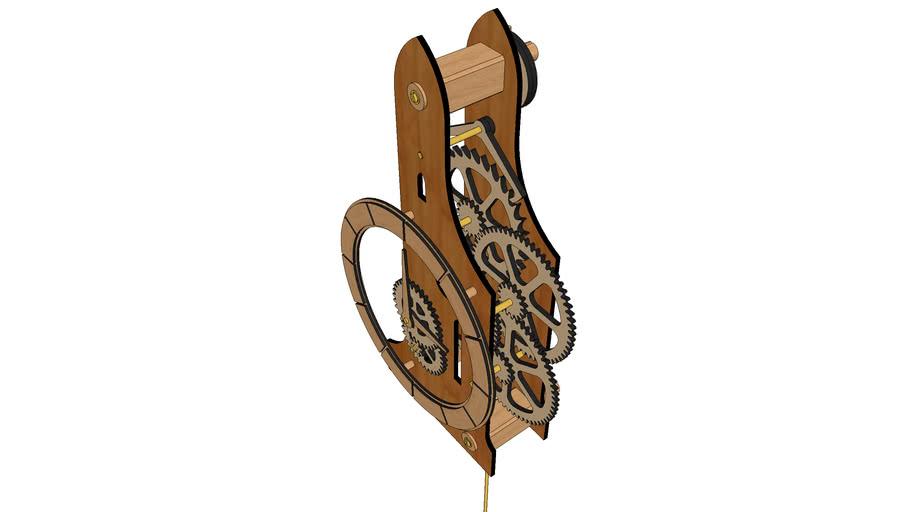 DIY #15 - Wooden Pendulum Clock (v2.6)