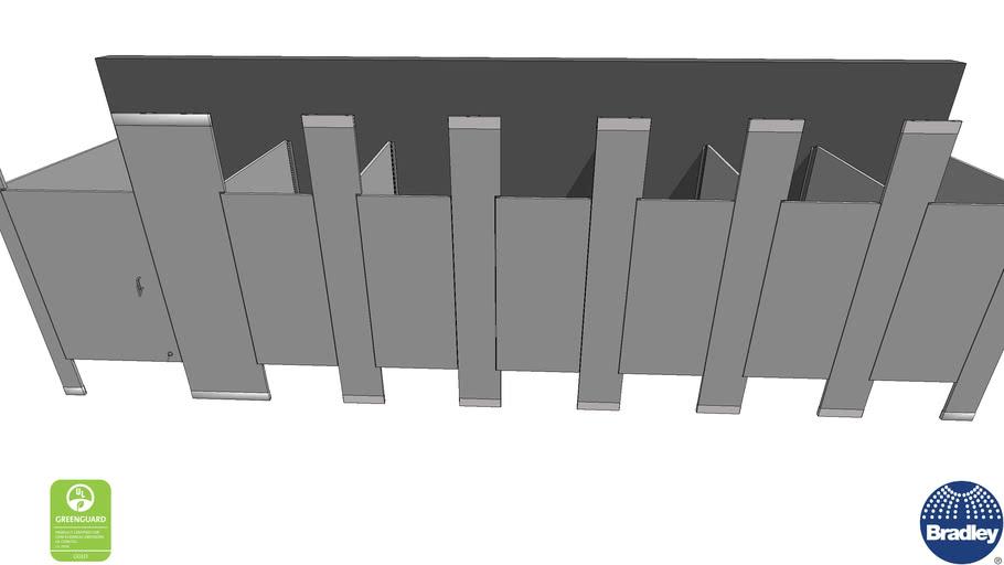 ADA 7-Stall Toilet Partition Floor-To-Ceiling-Bradmar