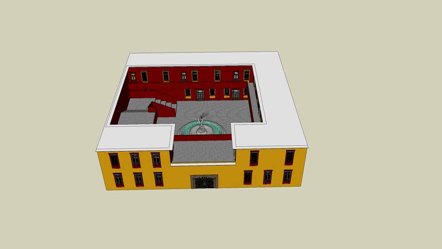 edificio tipo colonial mexicano