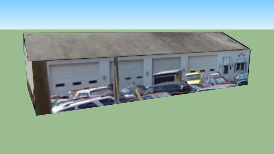一,夏洛特, 北卡罗来纳州, 美国的建筑模型(停车场1)