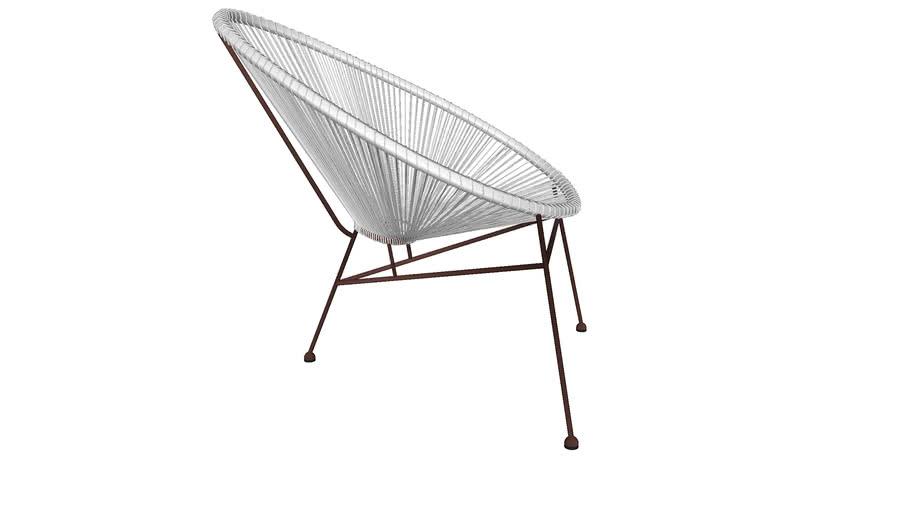 82070 Chair Spaghetti Copper White