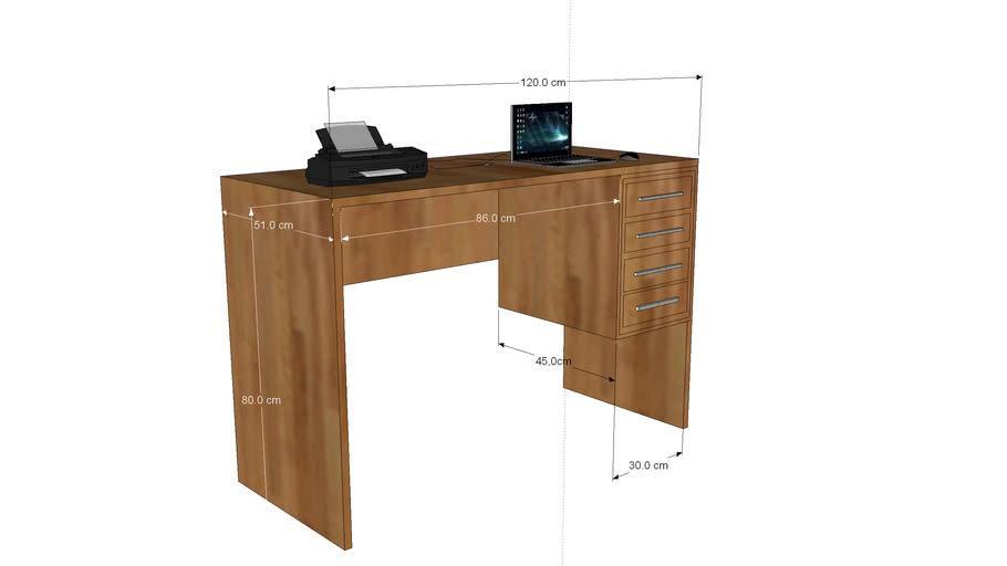 escrivaninha de madeira peroba