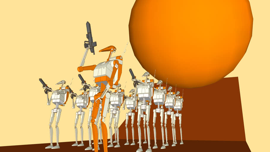 Star Wars Droid Army SketchyPhysics Example