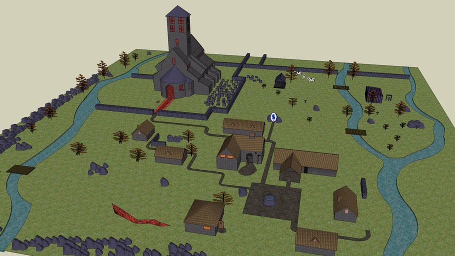Fan Art-Diablo 1 Tristram 3D