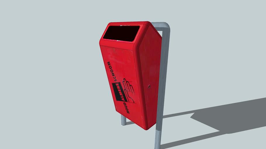 Vuilnisbak rood (met de tekst houd Almere schoon)