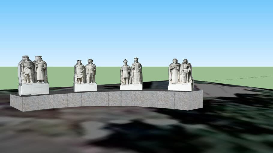 Grupul Statuar al Voievozilor - Iasi