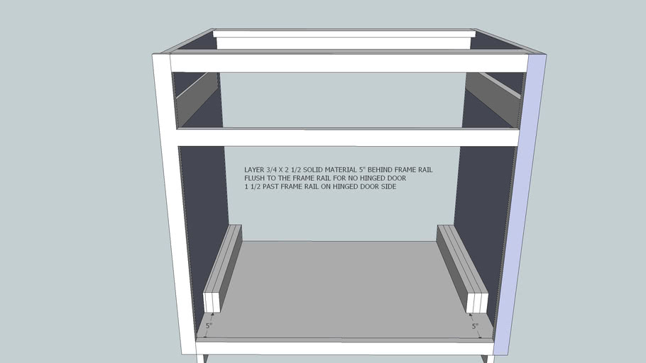 std. base cabinet single pull out bottom