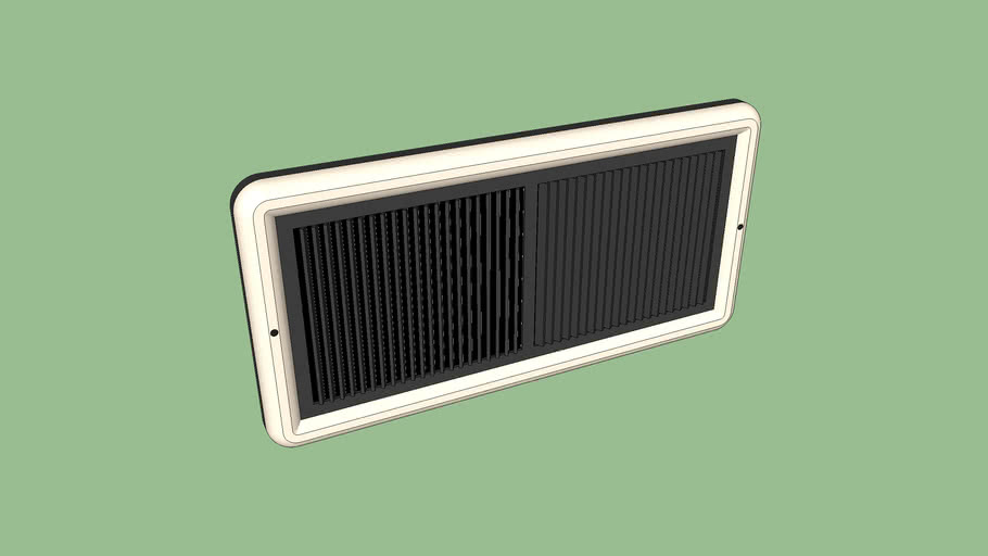 Vintage Wall Air Vent / Return