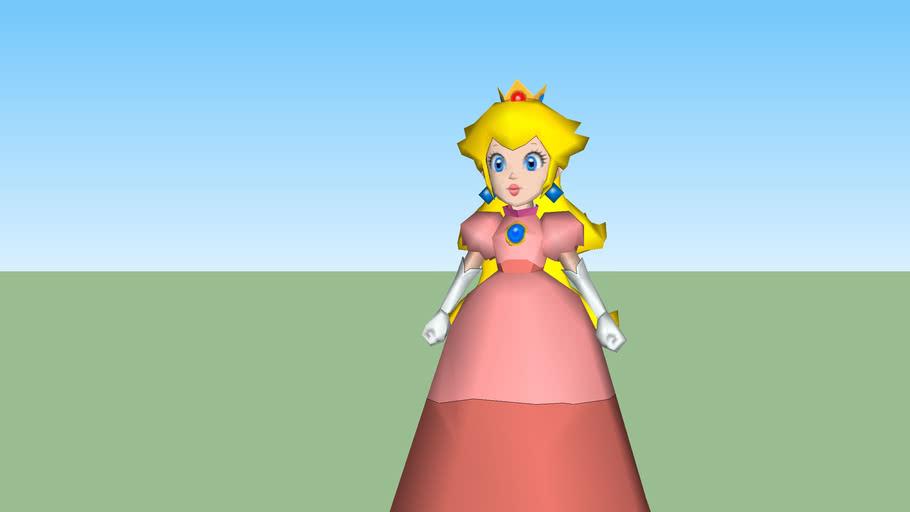 Princess Peach Super Mario 64 3d Warehouse