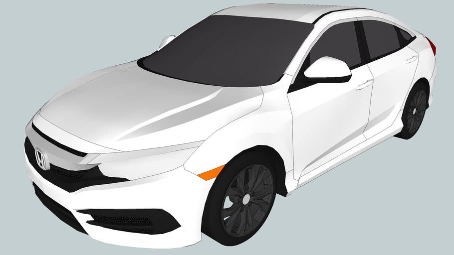 2016 Honda Civic LX Sedan (Low Poly)