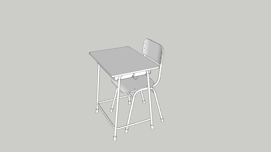 School desk with chair 학교 책상 의자