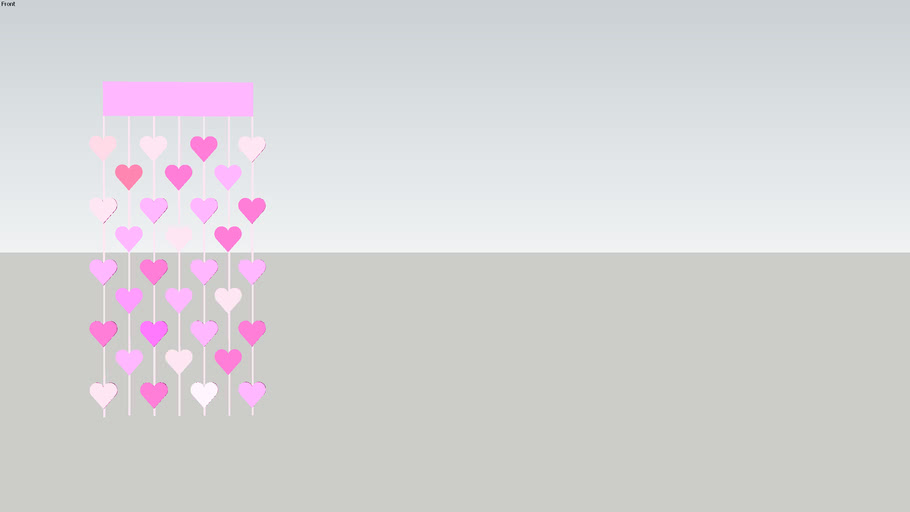 gekleurd harten gordijn
