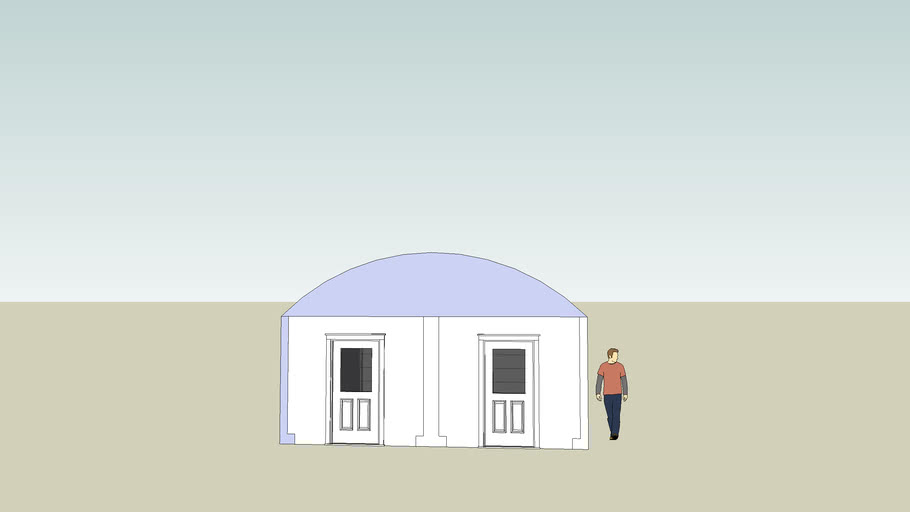 Garage with doors