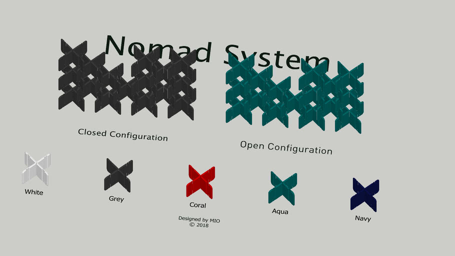 MIO Nomad System Felt Room Dividers