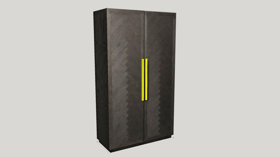 Herringbone Double Door Cabinet from Restoration Hardware