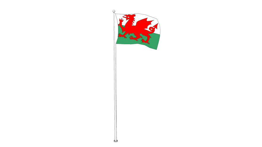 The Red Dragon flag (Welsh)
