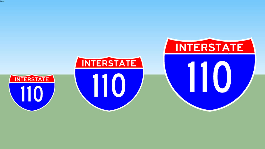 Interstate 110 Sign
