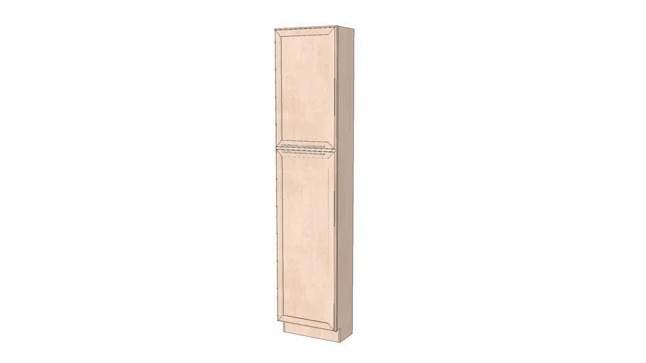 Tall Cabinets - Kendrick Square Full Maple Parchment by KraftMaid® Cabinetry