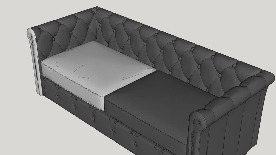 hawthorn leather sofa 3d warehouse