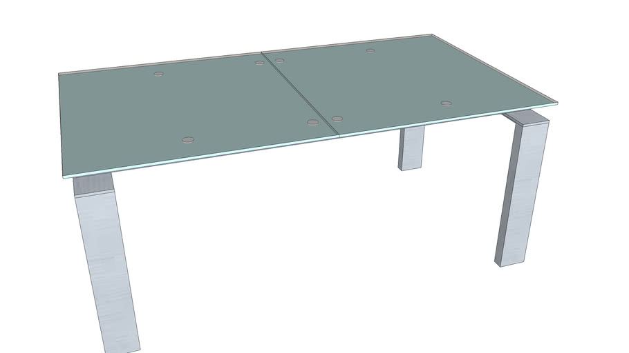 Table de salon en verre extensible