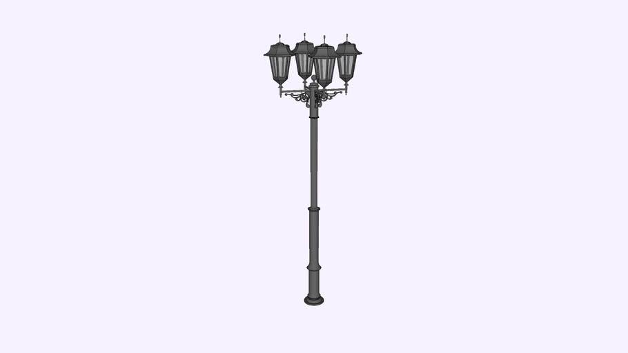 Фонарь уличный «Пушкин - 4» со светильниками