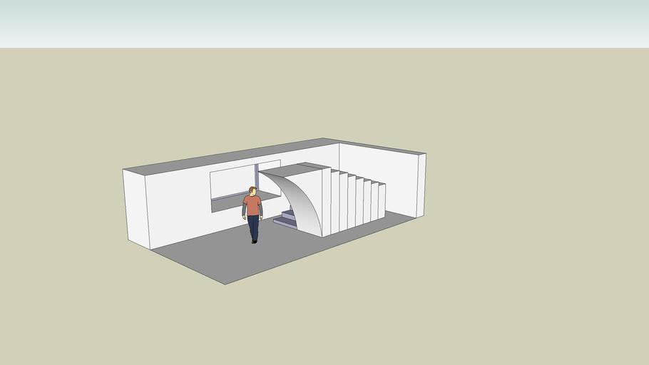 Unpainted inner house design