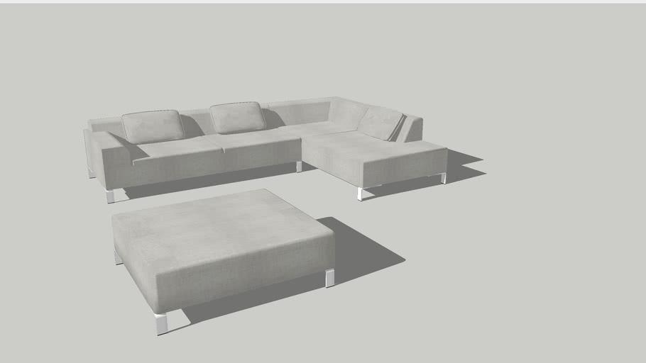 Furniture Corner Sofa Strada Pouf