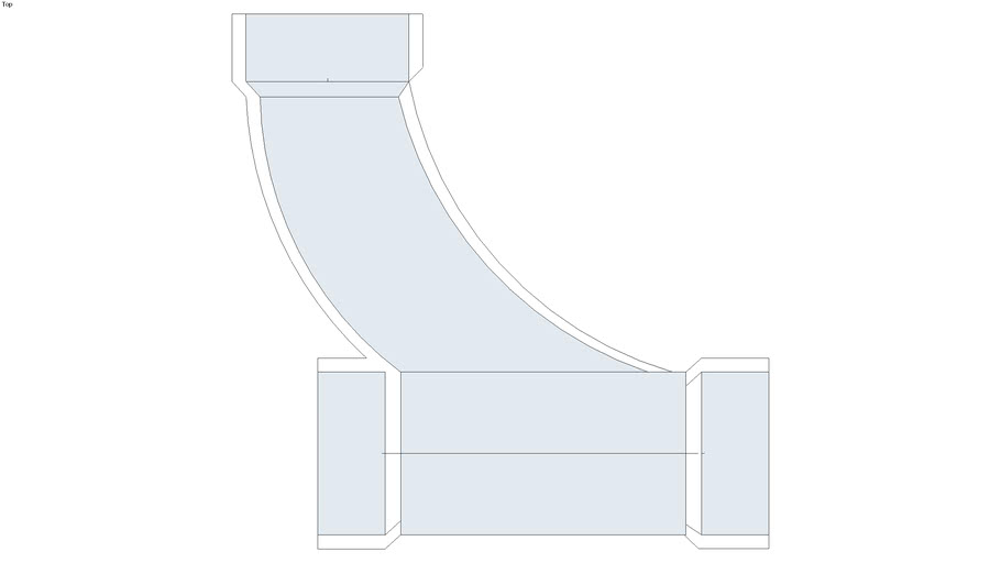 """4"""" ABS or PVC Combo & 1/8 Bend"""