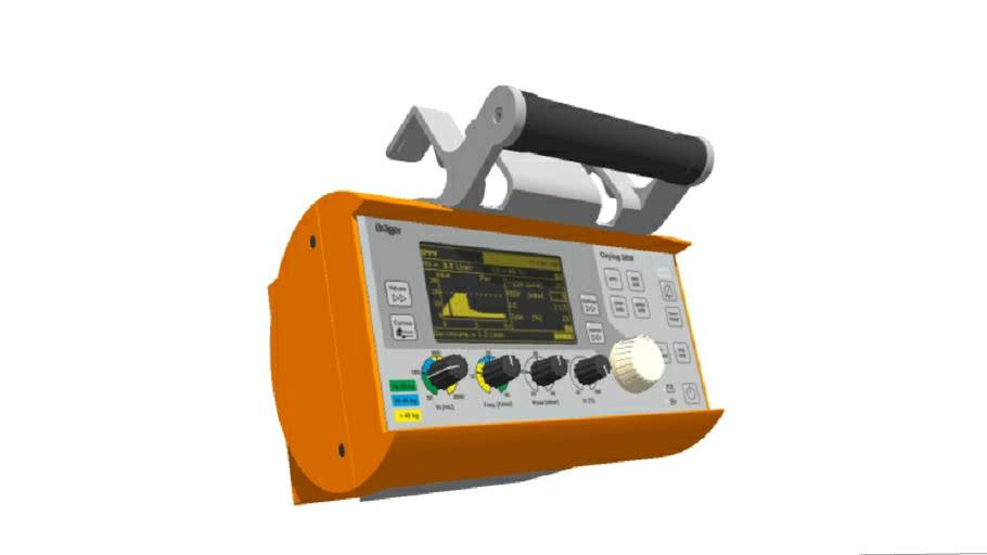 Dräger Oxylog 3000 Mobile Intensive Care Ventilation