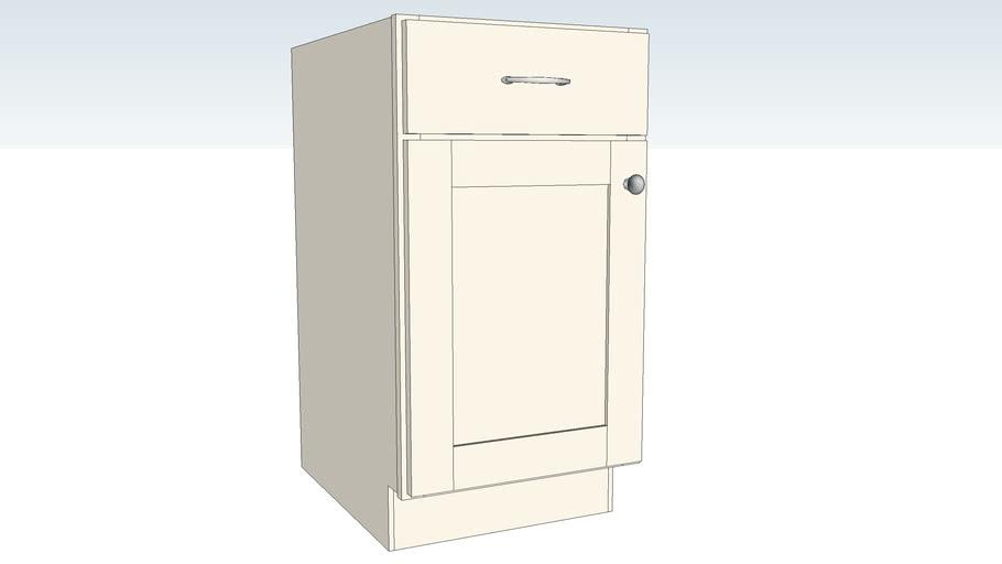 Base Single Door - Half Depth Shelf