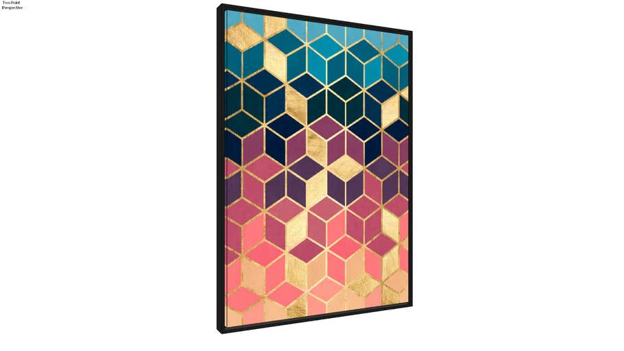 Quadro Mosaico Dourado VIII