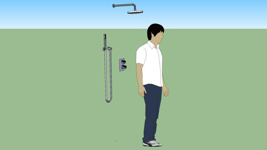 Element-T Built-in Shower Mixer w/Handshower & Sprinkler Head