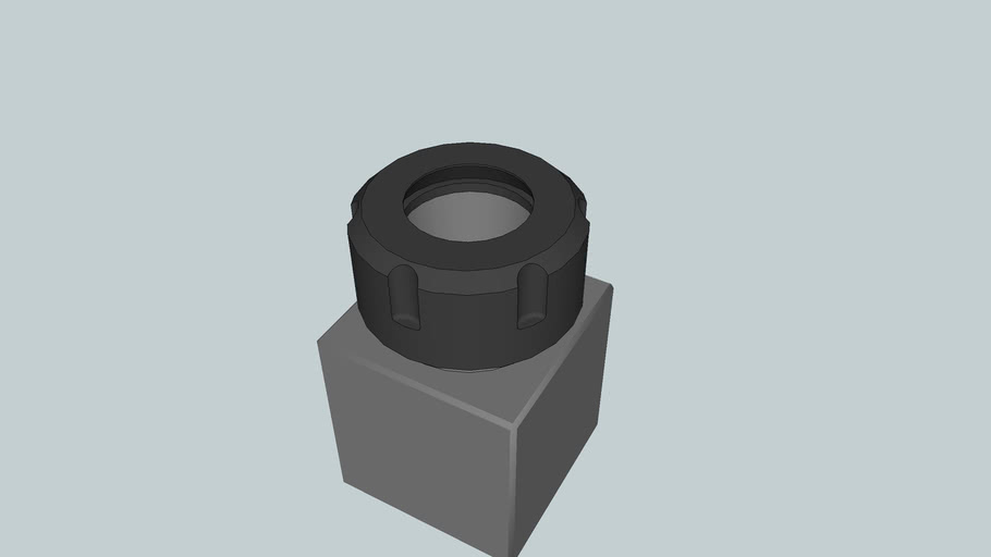ER-32 Square Collet Block with Nut