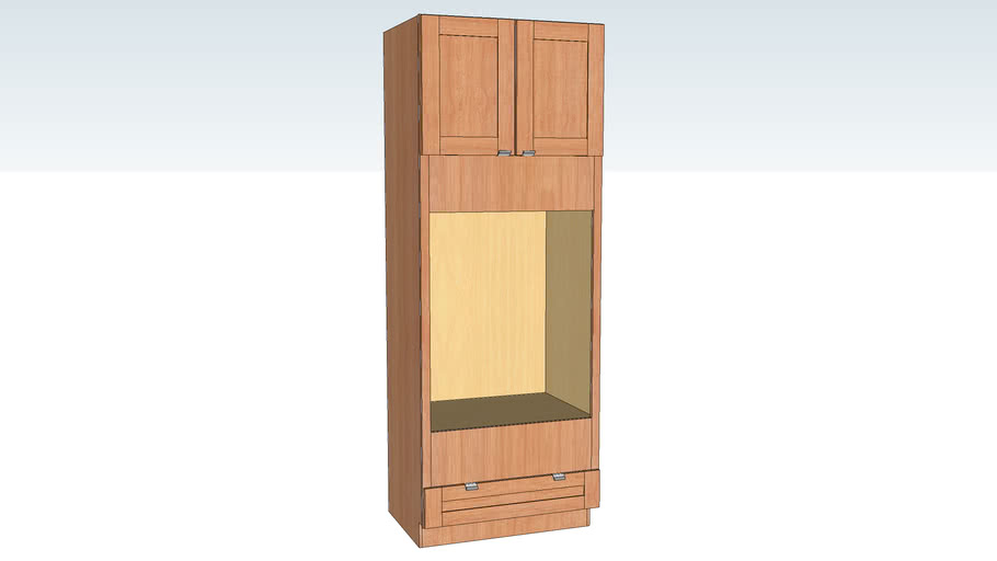 Oven Cabinet - Double with 3in Stiles