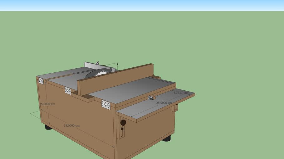 sierra de mesa modelismo