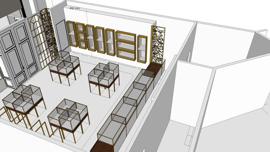 Jewelry Shop Interior Design From Uniquekiosk Com 3d Warehouse
