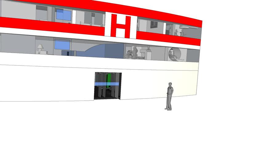 Mercy Hospital: South East Entrance - Floors 1-3: Sector 83
