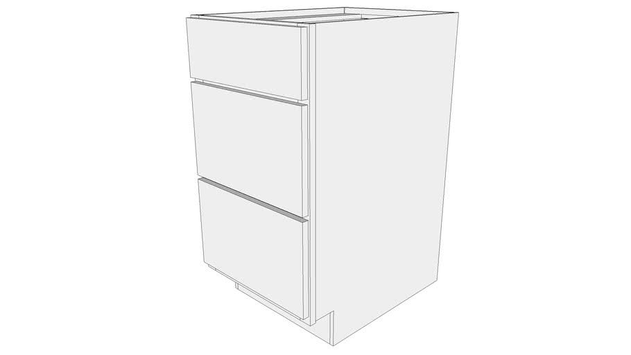 Glenwood Base Cabinet 3DB18 - Three Drawer