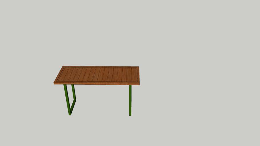 rustic door table